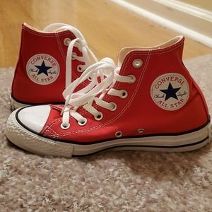 Hightop Red Converse shoes